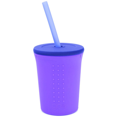 Silikids Silicone Straw Cup Purple