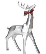 Harman Holiday Decor Geometric Standing Reindeer Small Silver
