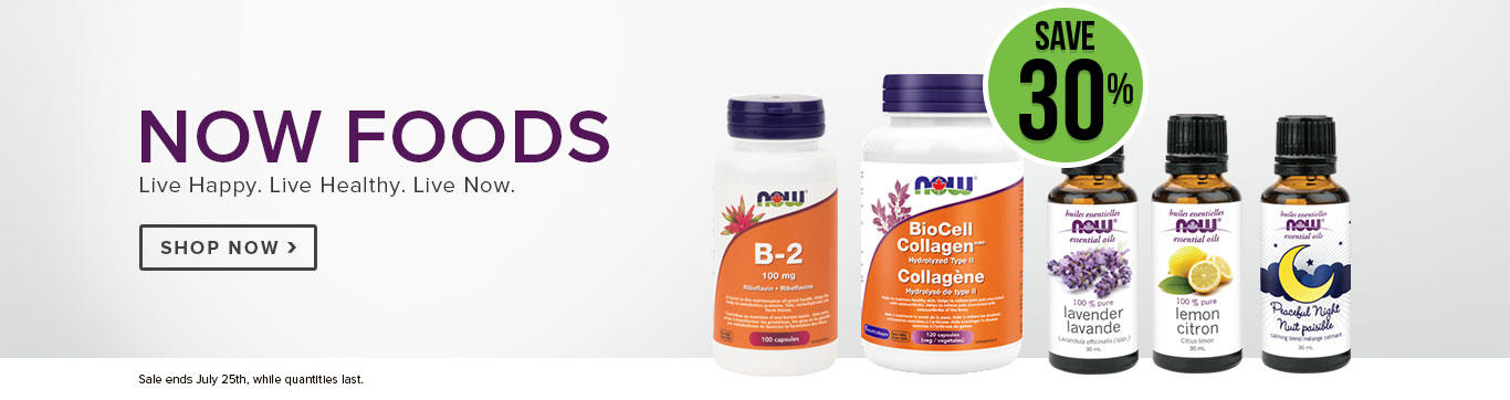 Save 30% on Now Foods