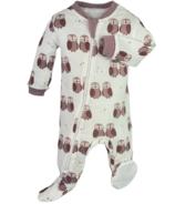 ZippyJamz pyjama hibou mauve