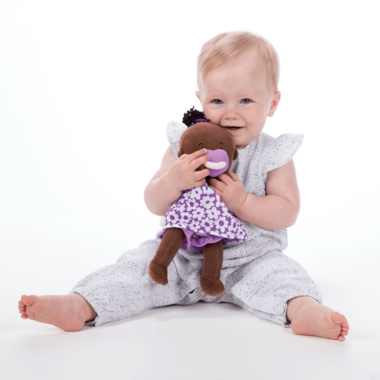 Buy Manhattan Toy Wee Baby Stella Brown Doll With Black ...