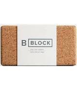B Yoga B BLOCK Cork Yoga Block