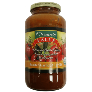 Organic Value Organic Pasta Sauce Roasted Garlic