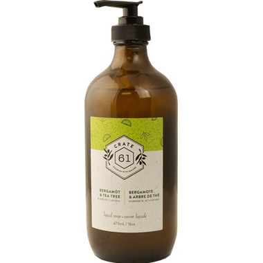 Crate 61 Organics Bergamot Tea Tree Liquid Soap