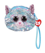 Ty Fashion Whimsy the Blue Cat Sequin Wristlet