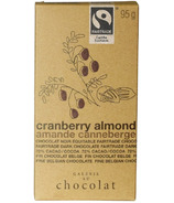 Galerie au Chocolat Cranberry Almond Chocolate Bar