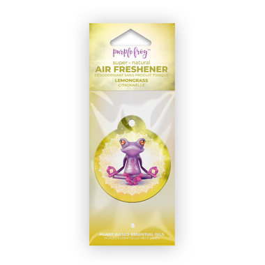 Purple Frog Lemongrass Hanging Air Freshener