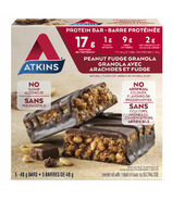 Atkins Protein Bars Peanut Fudge Granola 5-Pack