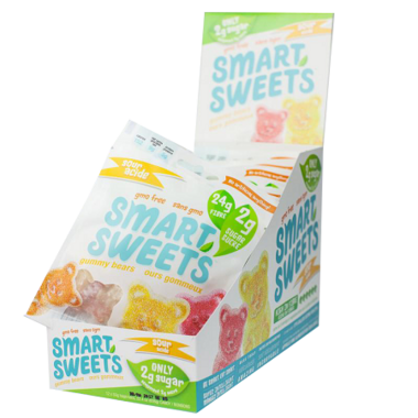 Smart Sweets Sour Gummy Bears with Stevia