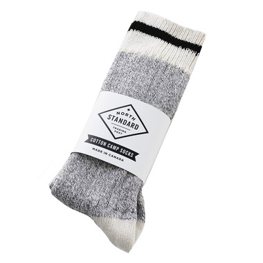 North Standard Trading Post Camp Socks Cotton Black