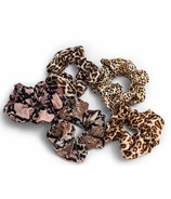Zoe Ayla 5-pack Scrunchies Assorted Animal Print
