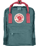 Fjallraven Kanken Mini Backpack Frost Green & Peach Pink