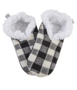 Hatley Women's Cozy Warm Slippers Cream Plaid