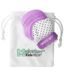 Malarkey Kids Munch Mitt Teething Mitten Purple Polka Dots