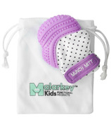 Malarkey Kids Munch Mitt Teething Mitten Purple Polka Dots