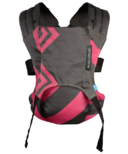 We Made Me by Diono Venture Baby Carrier Black & Bubblegum Zig Zag