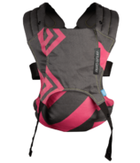 We Made Me by Diono Venture+ Toddler Carrier Black & Bubblegum Zig Zag