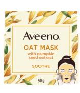 Masque facial apaisant Aveeno aux extraits d'avoine et de pépins de citrouille