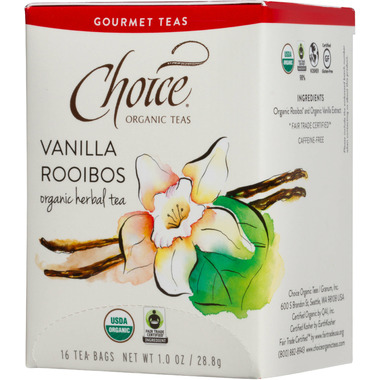 Choice Organic Teas Vanilla Rooibos Tea