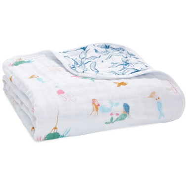 aden + anais Classic Dream Blanket Salty Kisses Mermaids