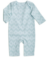 aden + anais Long Sleeve Coverall Ziggy Geo Blue