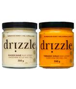 Drizzle Ginger Shine & Turmeric Gold Raw Honey Bundle