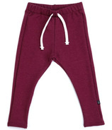 Vonbon Skinny Fleece Sweats Burgundy