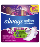 Always Radiant Pads Overnight Absorbency