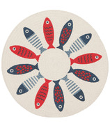 Now Designs Braided Placemat Little Fish