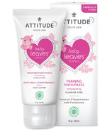 ATTITUDE Baby Leaves Training Toothpaste Straberry Flavor Fluoride Free