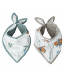 Little Unicorn Cotton Muslin Bandana Bib Set Bison