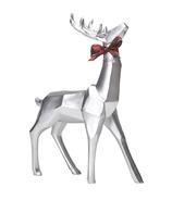 Harman Geometric Standing Reindeer Large Silver