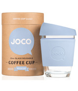 JOCO Glass Reusable Coffee Cup in Vintage Blue