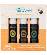 Therawell Essential Oil Blend 3 Pack Mood Booster Roll-On