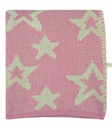 Perlimpinpin Chenille Blanket Pink Stars