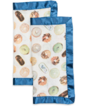 Lulujo Security Blankets Bamboo Cotton Donuts