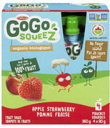 GoGo squeeZ Organic Apple Strawberry