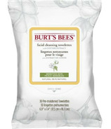 Burt's Bees Sensitive Facial Cleansing Towelettes with Cotton Extract, 30