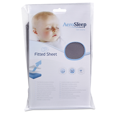 AeroSleep Sleep Safe Fitted Sheet Dark Grey