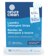 Nature Clean Laundry Detergent Strips Fragrance Free