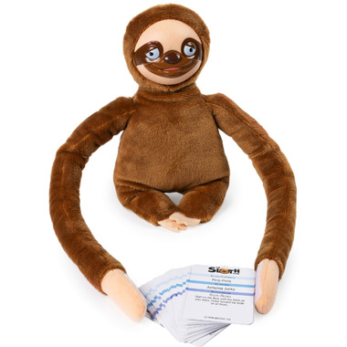 Spin Master Games Team Charades and Task Game with Electronic Plush Sloth