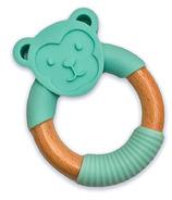 """babyworks Silicone & Beechwood Teething Ring """"Moe"""" Monkey"""