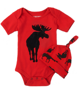 Hatley Moose on Red Baby Bodysuit & Hat