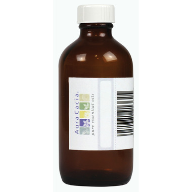 Aura Cacia Amber Glass 4 oz Bottle with Writeable Label