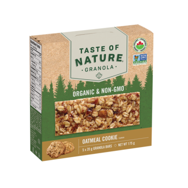 Taste of Nature Organic Granola Bars Oatmeal Cookie