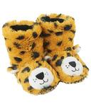 Hatley Little Blue House Kids Slippers Leopard