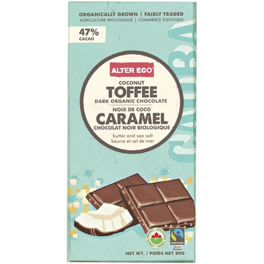 Alter Eco Dark Organic Chocolate Coconut Toffee