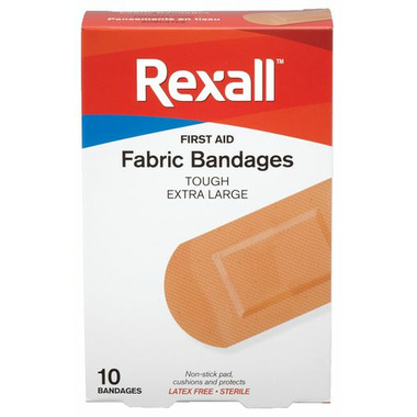 Rexall Tough Fabric Bandages Extra Large