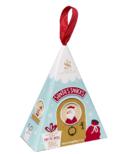 Saxon Chocolates Santa's Snacks Ornament Box Chocolate Enrobed Pretzels