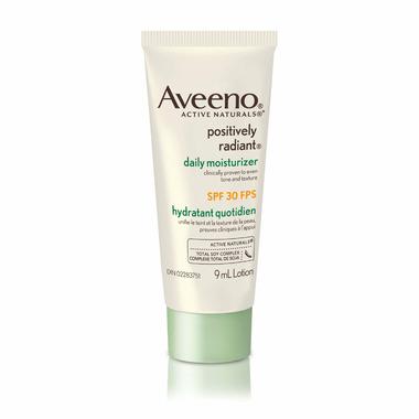 Aveeno Positively Radiant Daily Moisturizer SPF 30 Sample